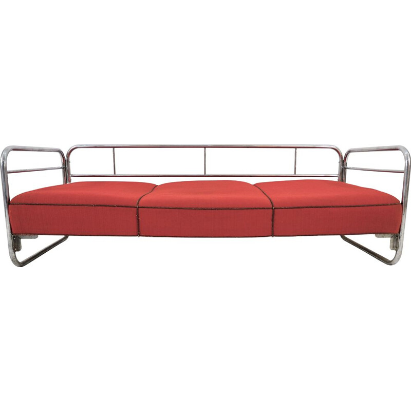 Vintage Chrome Sofa