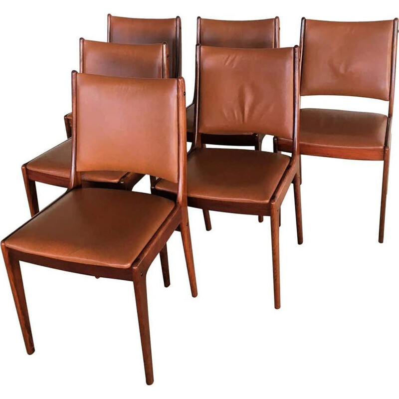 Set of 6 Dining Chairs Johannes Andersen Rosewood 1960s