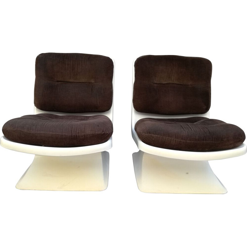Pair of Vintage Armchairs by Albert Jacob for Grosfillex, France