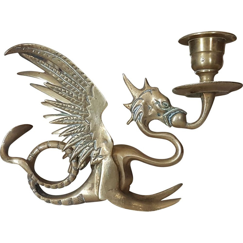 Vintage Dragon Griffon Candle Holder Table Decoration
