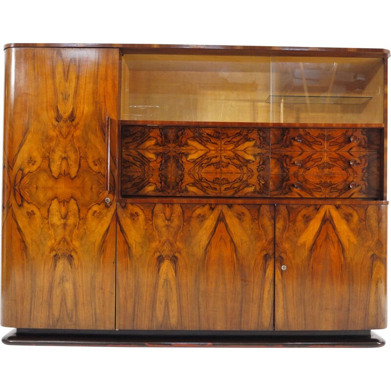 Vintage Walnut Sideboard by Jindřich Halabala for UP Závody, 1950s