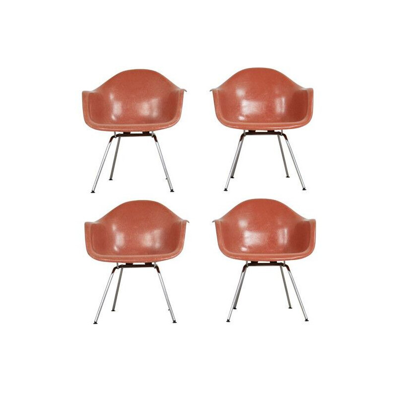 Set of 4 vintage DAX armchairs by Charles & Ray Eames for Herman Miller 1970