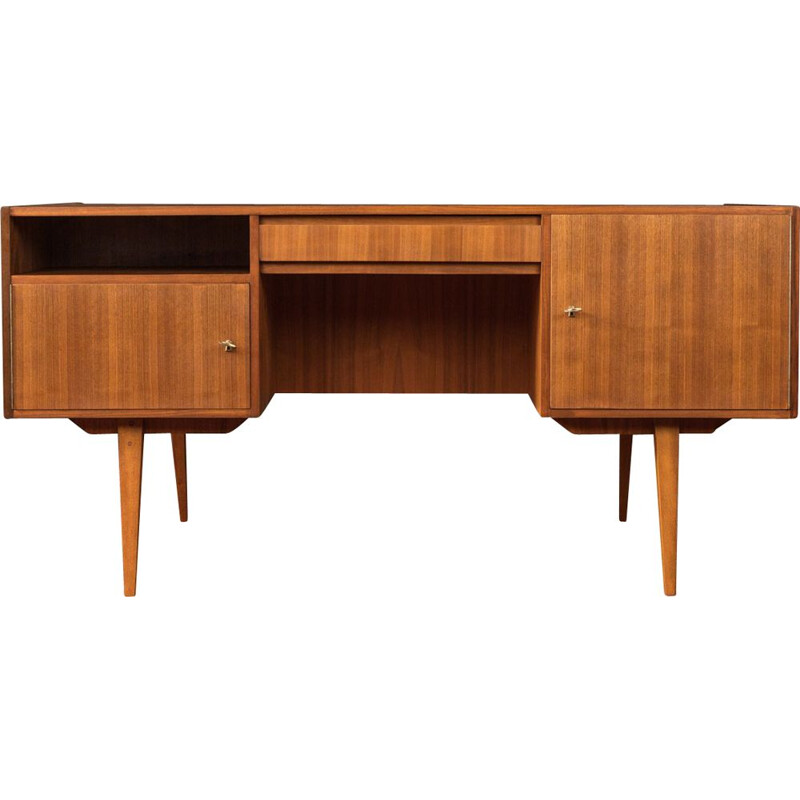 Vintage writing desk walnut 1950s