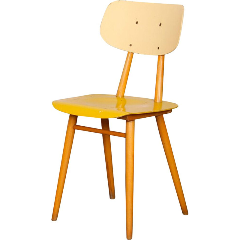 Vintage chair by Ton, 1960