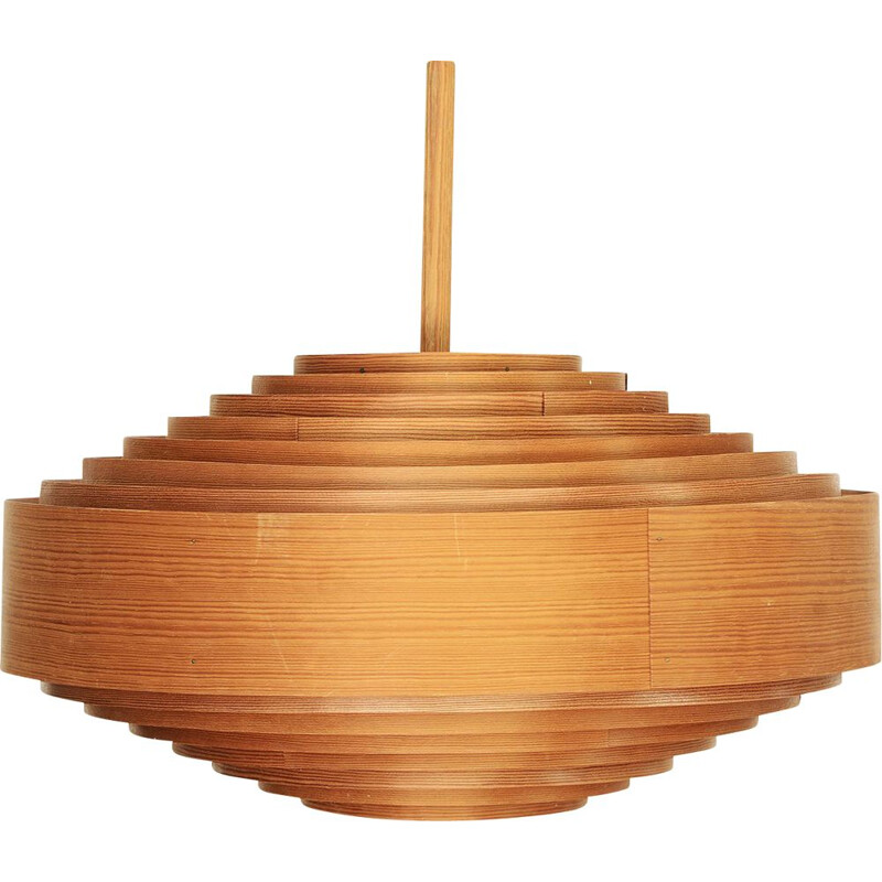 Vintage Pine pendant light T 547 by Hans-Agne Jakobsson for Ellysett AB. Sweden 1960s
