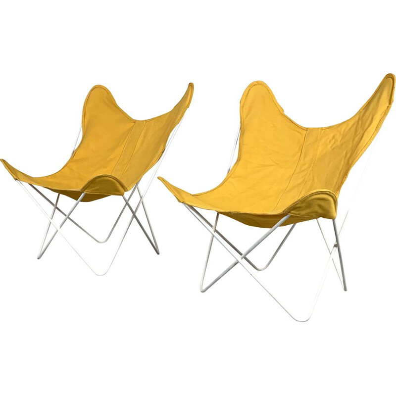 Vintage Butterfly BKF lounge chairs by Jorge Ferrari Hardoy for Knoll, 1970s