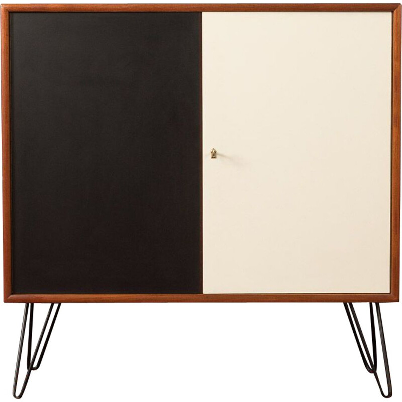 Vintage Dresser teak black and cream white WK Möbel 1960s