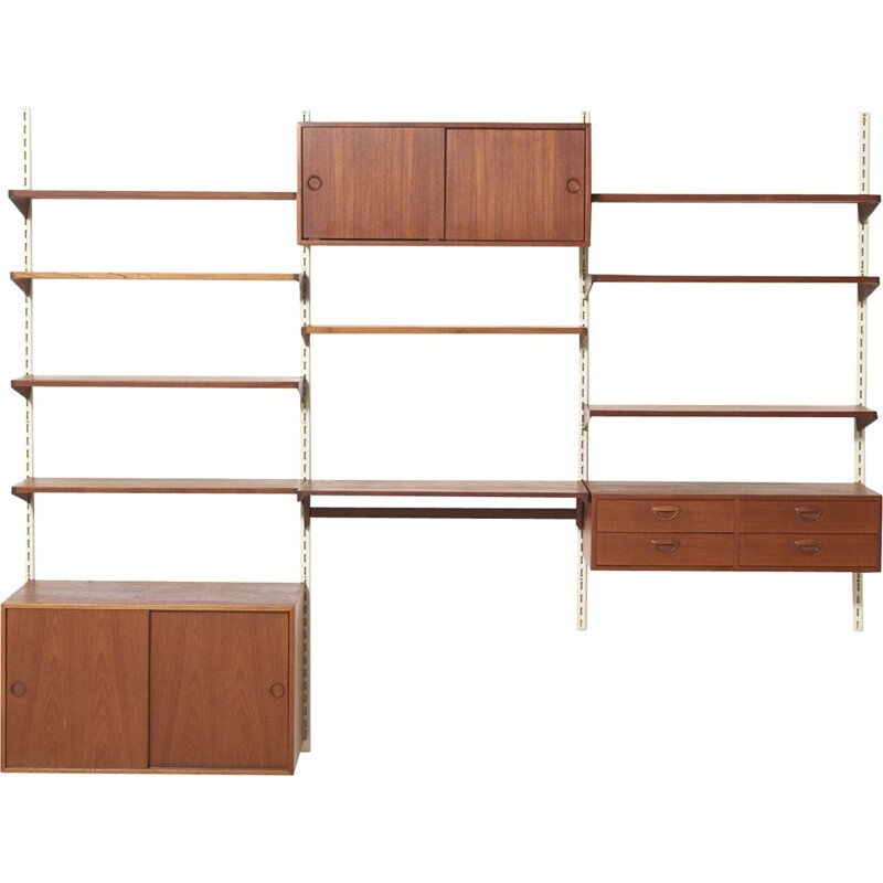 Vintage FM Wall Unit in Teak by Kai Kristansen, Denmark - 1960s