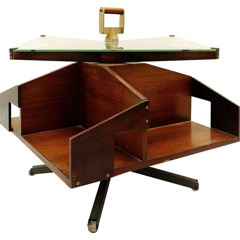 Vintage rotating bar table Ico Parisi - Italy 1957