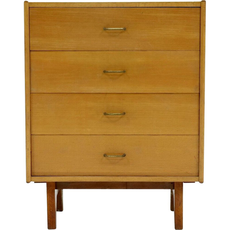 Vintage Coen de Vries Birch Drawer Cabinet for Everest 1950s