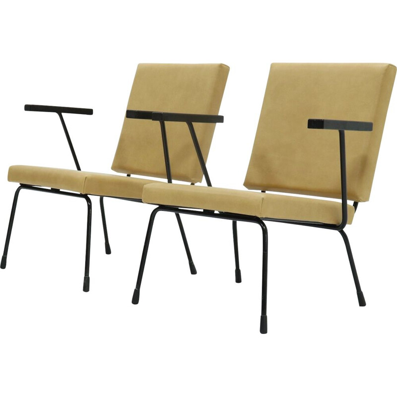 Pair of Vintage Armchairs 1401 by Wim Rietveld for Gispen, 1954