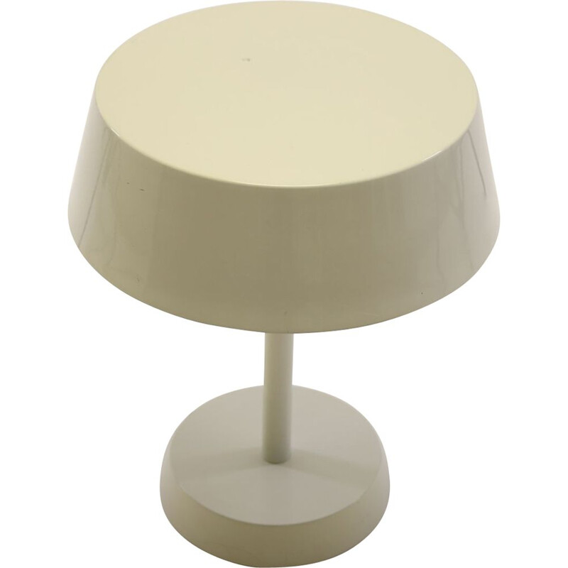 Vintage White table lamp made of metal