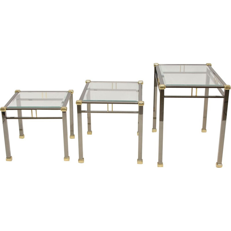 Vintage nest side tables Tables Miniset Gold and silver Eicholtz Lindon