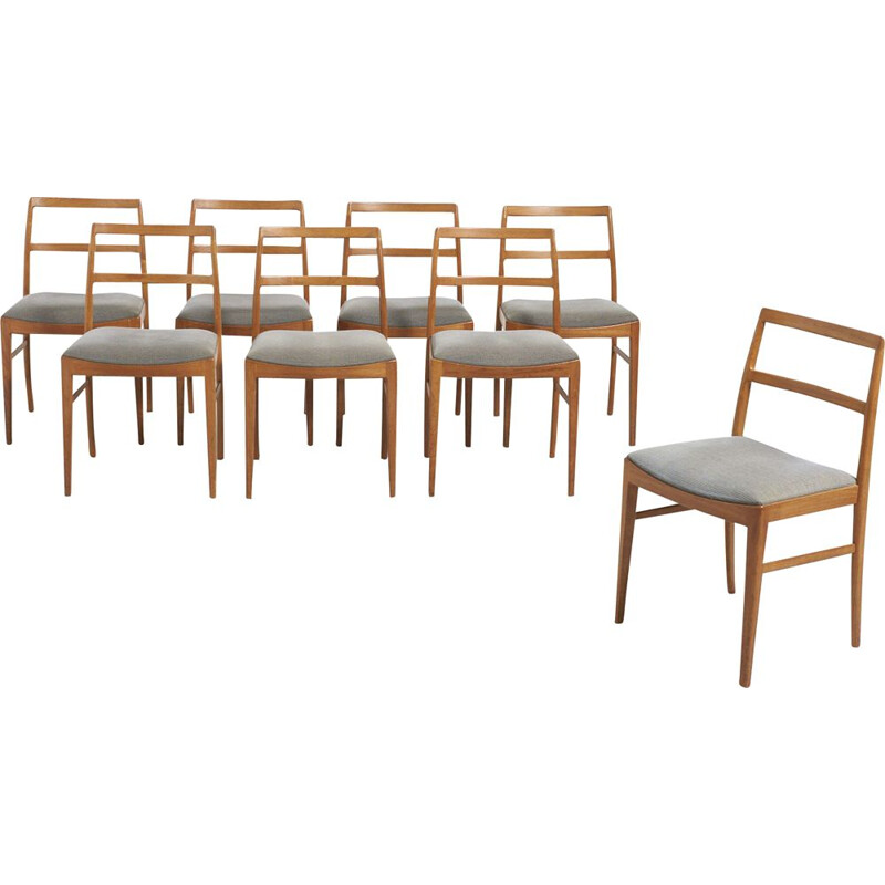 Set of 8 vintage Dining Chairs by Arne Vodder for Sibast Furniture, Denmark 1960s