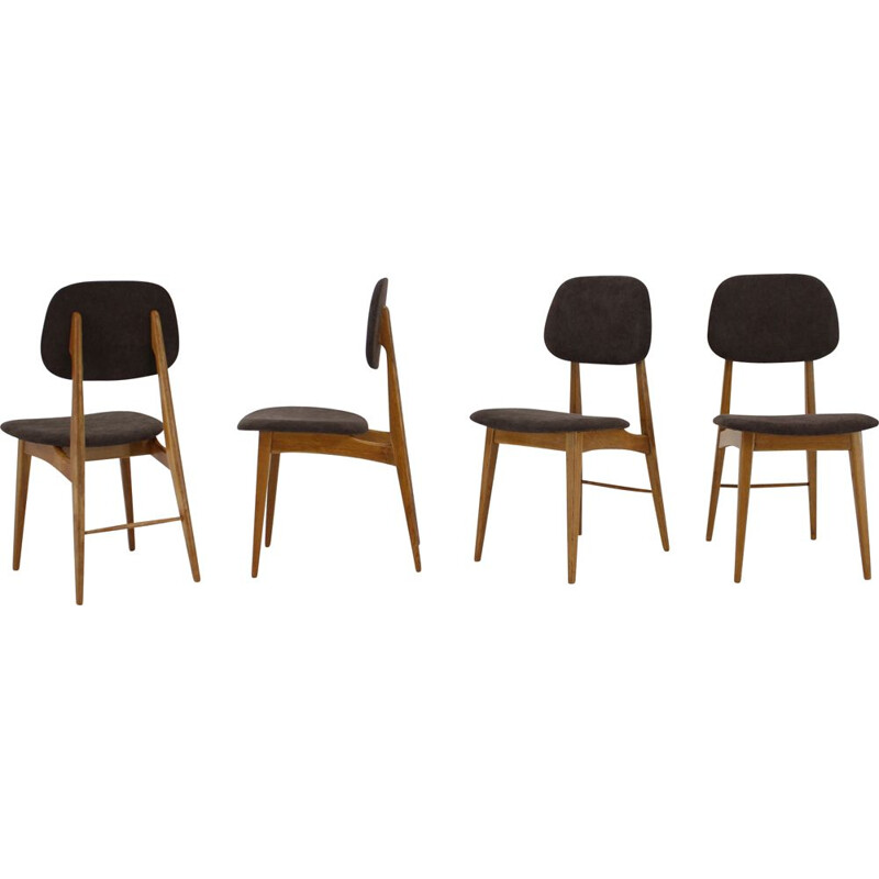 Set of 4 dining chairs, scandinavian 1960s