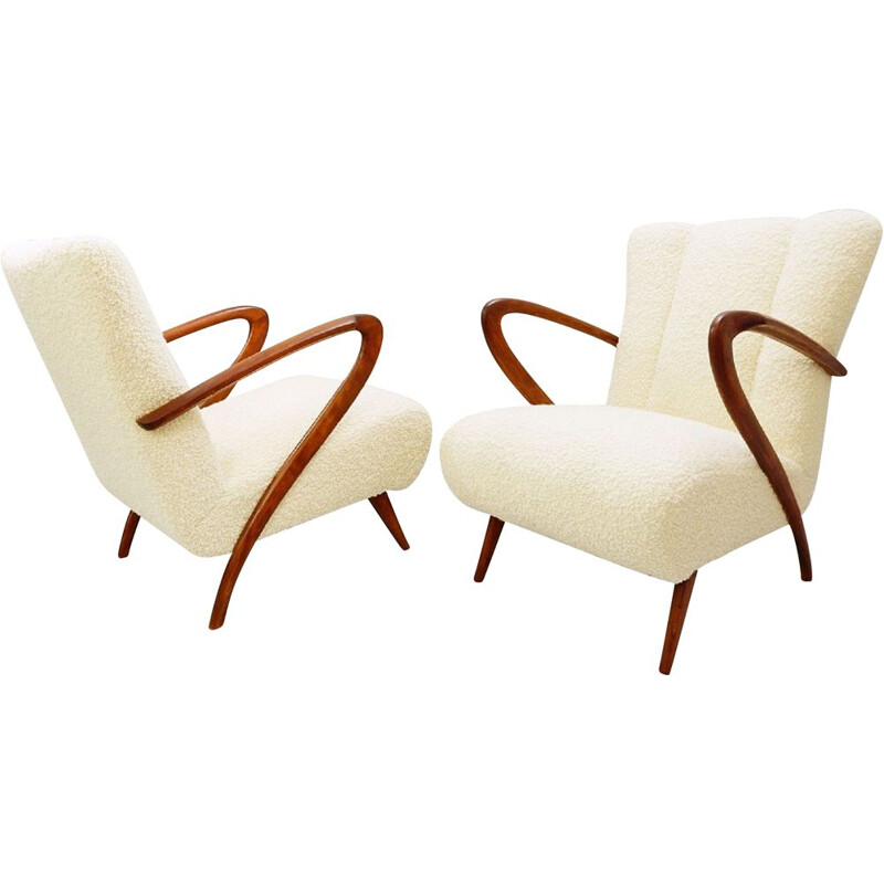 Pair of Vintage Armchairs Guglielmo Ulrich, Italy 1950