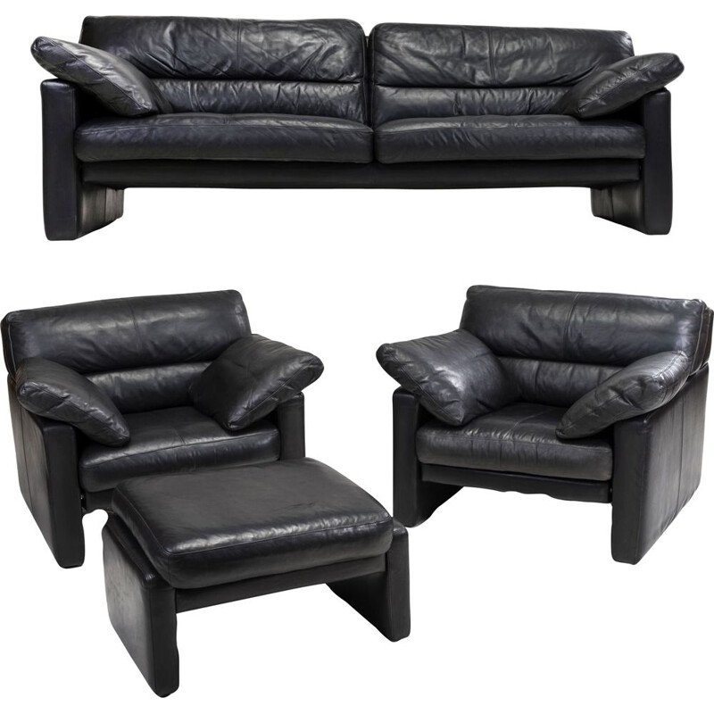 Vintage Leather Living Room Set by WK Wonen