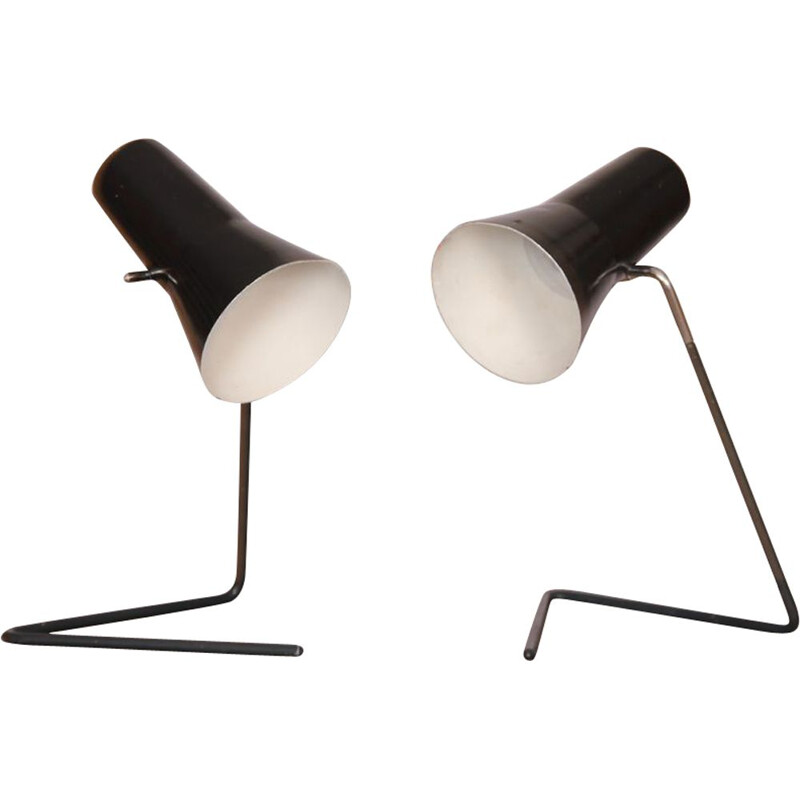 Pair of vintage lamps by Josef Hurka for Drupol, 1960