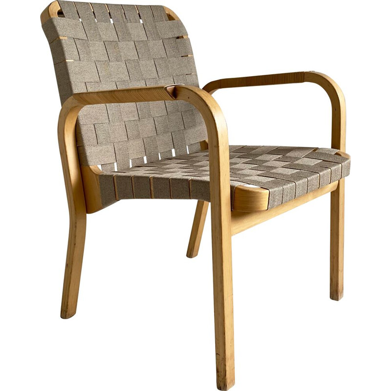 Vintage curved wood chair 'Model 45' Alvar Aalto for Artek 1940