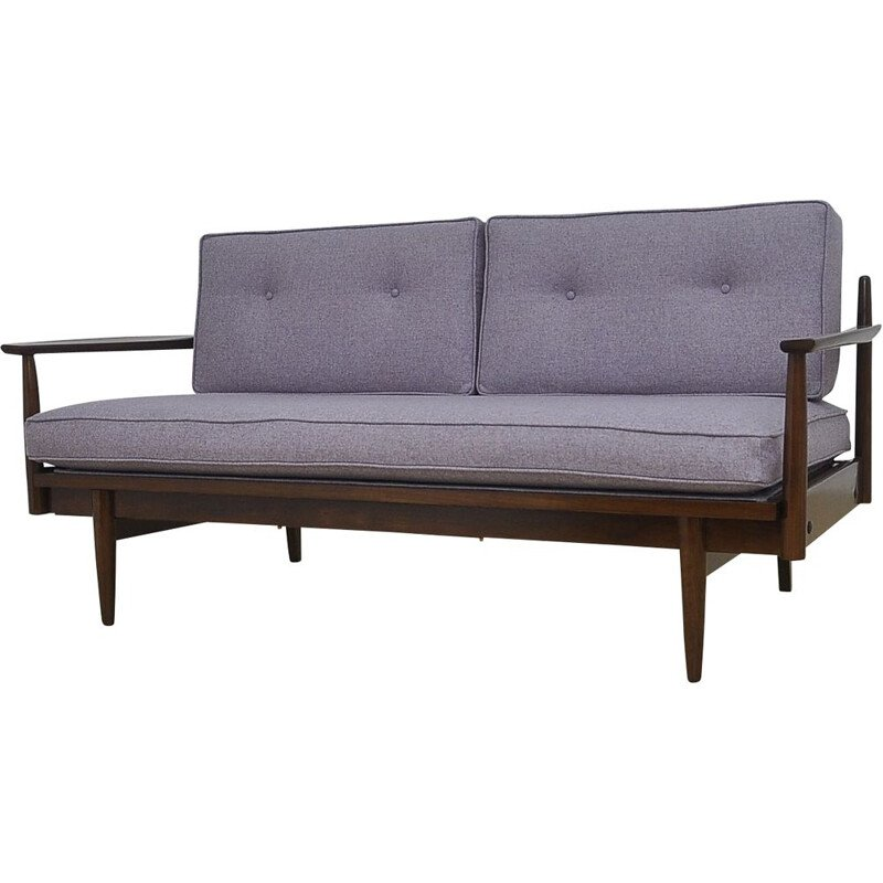 Vintage Extendable Sofa with Wool Upholstery, Day Bed, 1960s