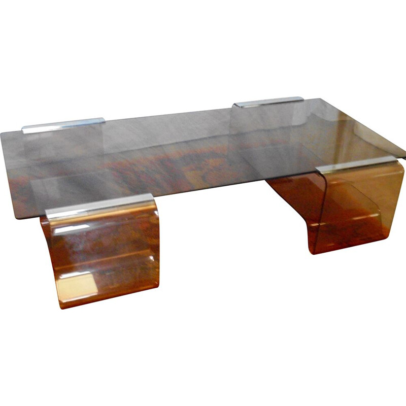 Vintage coffee table by Michel Dumas 1970