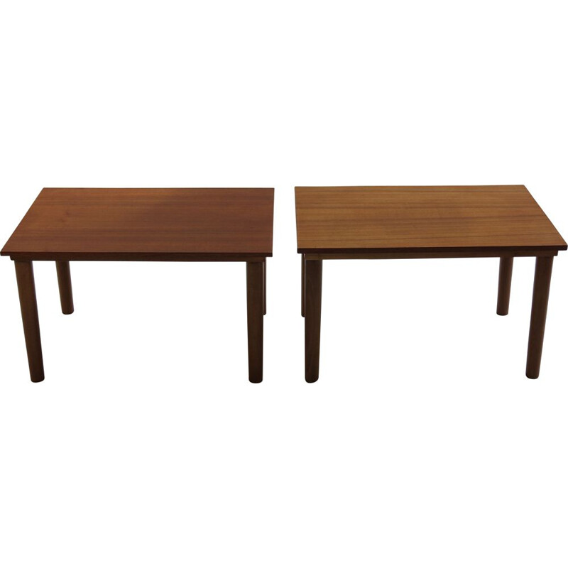 Pair Of Midcentury Teak Side Tables Borge Mogensen 1960s