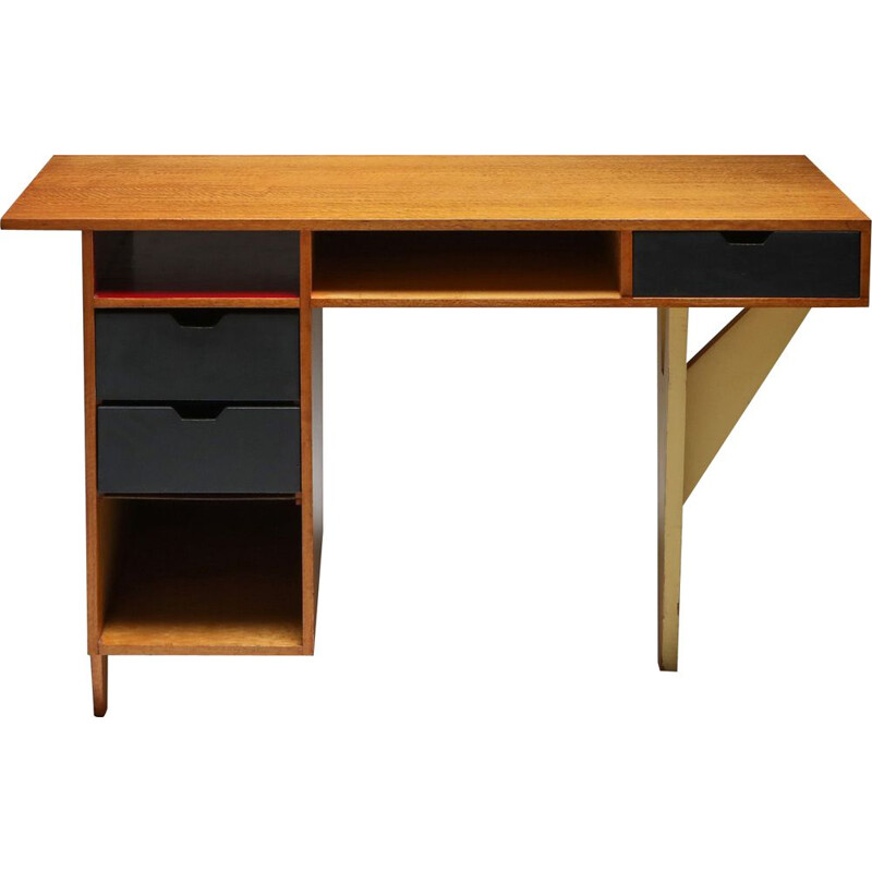 Vintage Modernist Desk Dutch 1950s