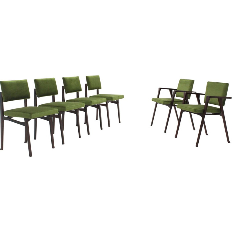 Set of 6 vintage dining chairs Franco Albini, Luisa and Luisella 1950