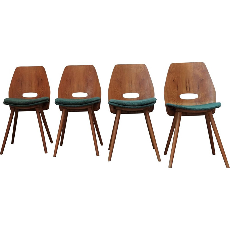 Set of 4 vintage Tatra Lollipop chairs 1980s
