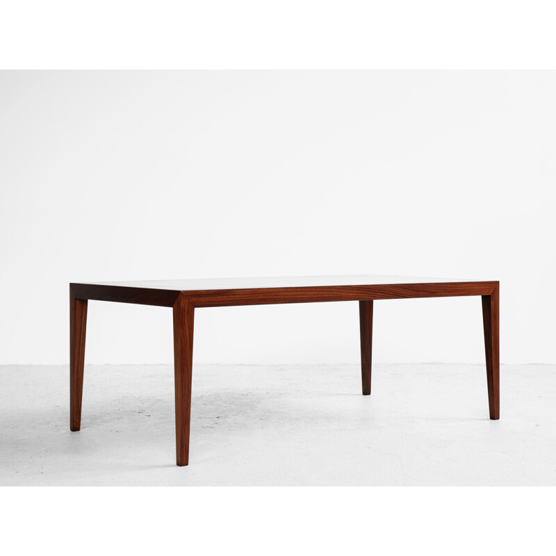 Midcentury coffee table in rosewood by Severin Hansen for Haslev Danish