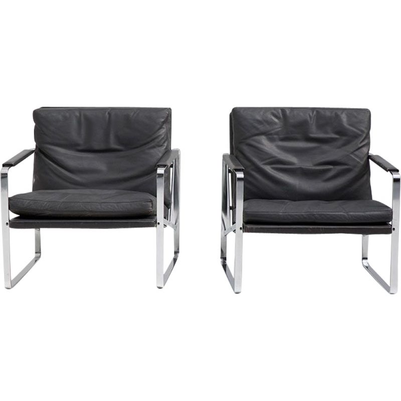 Pair of vintagearmchairs by Preben Fabricius  for Walter Knoll 1972