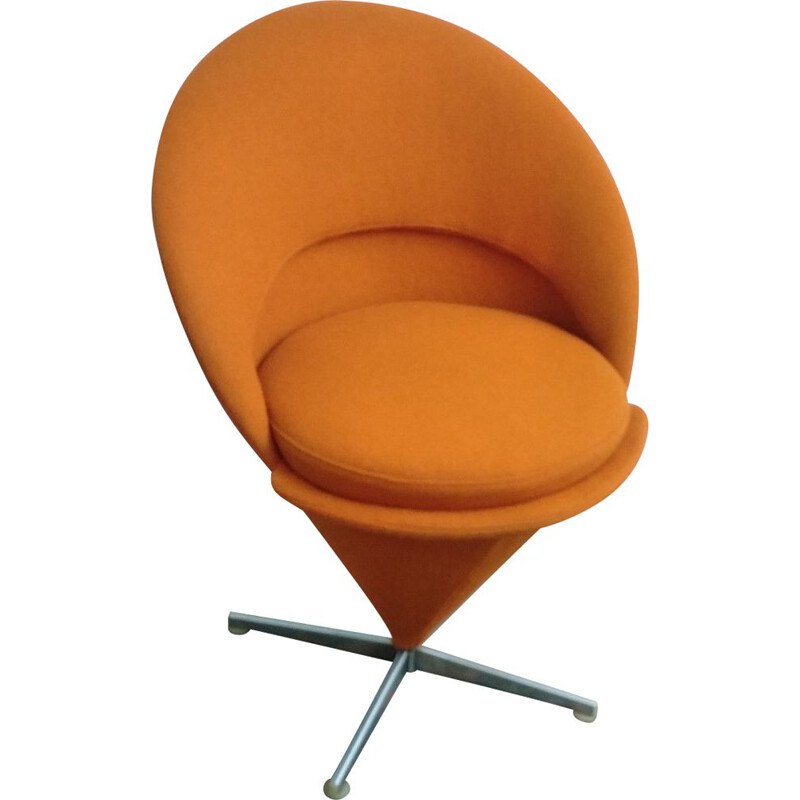 Vintage orange Cone chair by Verner Panton 1965