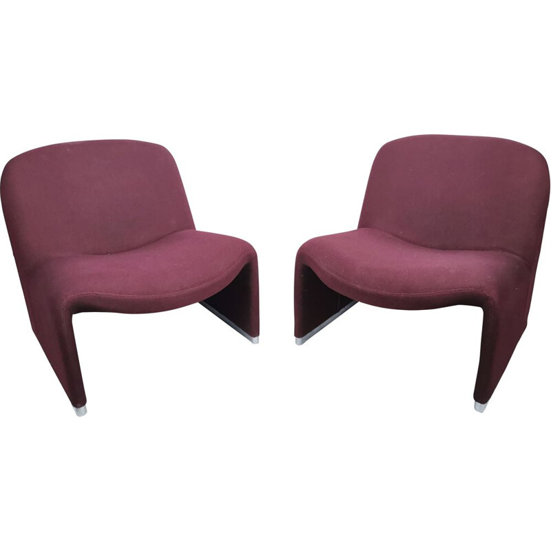 Pair of 'Alky' vintage armchairs by G. Piretti for Anonima Castelli 1969