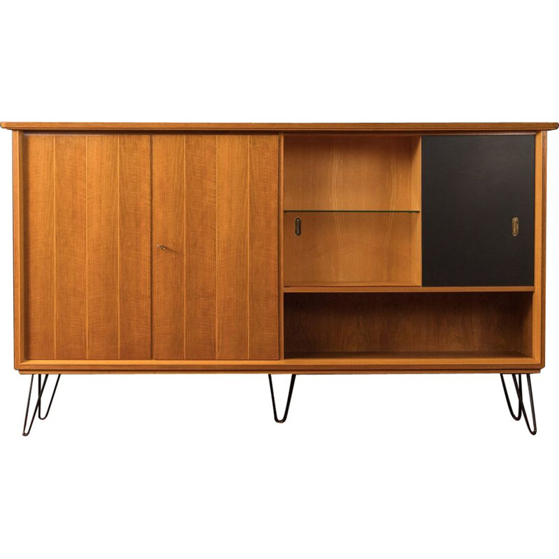 Vintage Highboard walnut 1950
