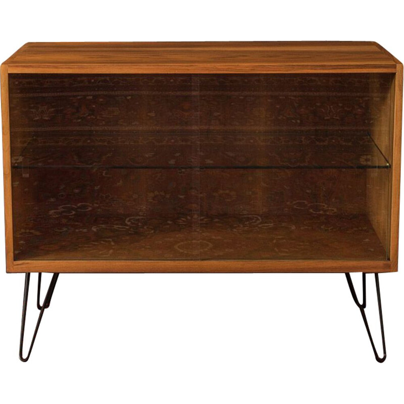 Vintage Showcase walnut scandinavian 1950s
