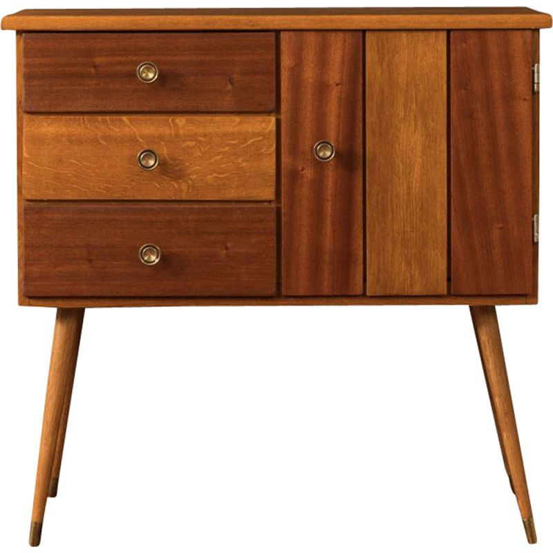 Vintage chest of drawers oak 1950s