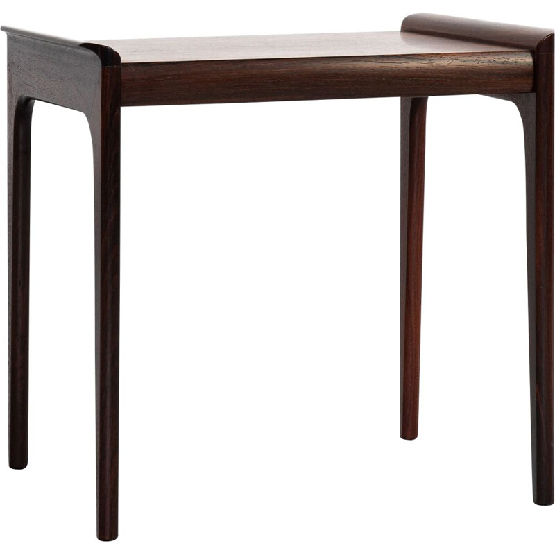 Midcentury side table in rosewood by Heltborg Møbler Danish 1960s