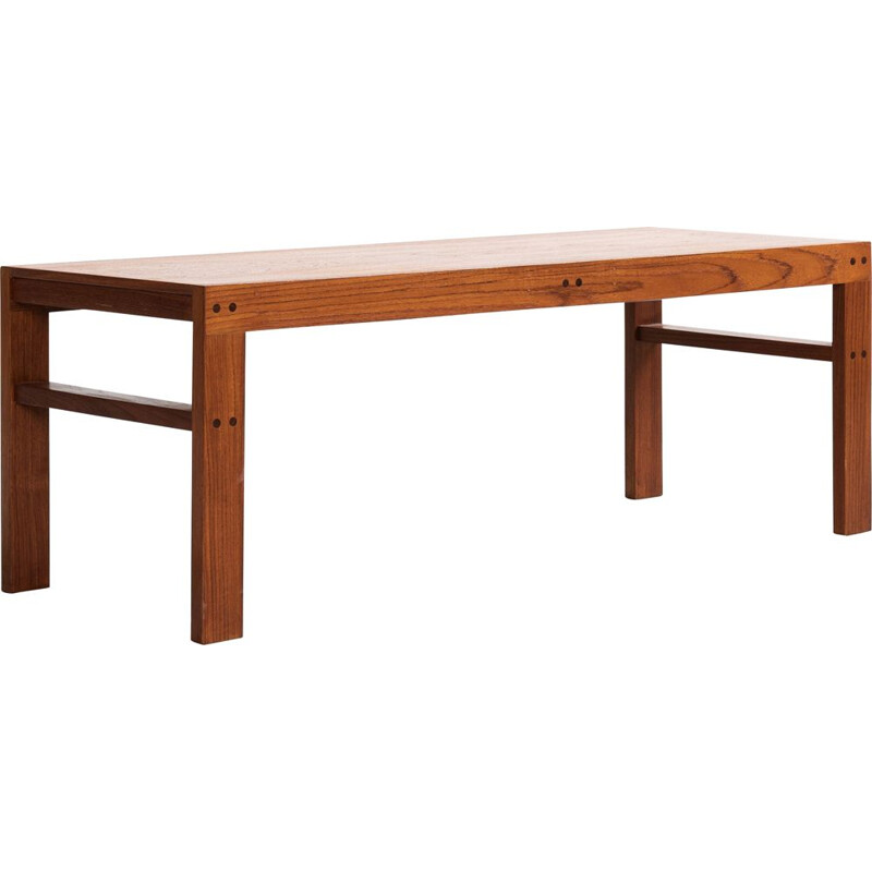 Midcentury low coffee table in teak Danish 1960s