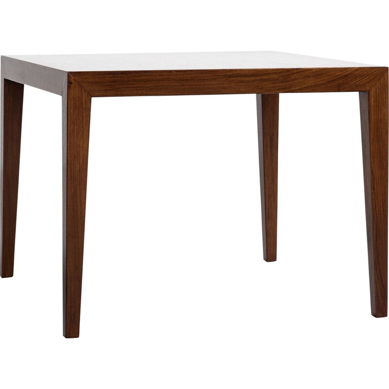 Midcentury square side table in rosewood by Severin Hansen for Haslev Danish 1960