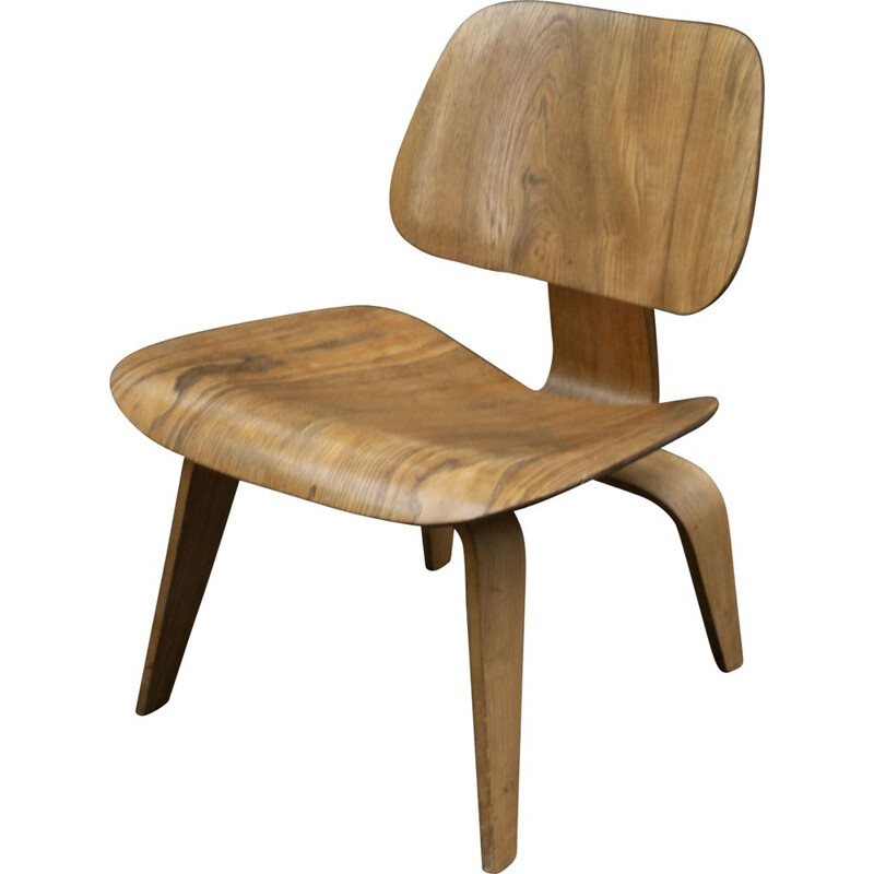 Vintage Oak LCW ChairCharles and Ray Eames Herman Miller 1950
