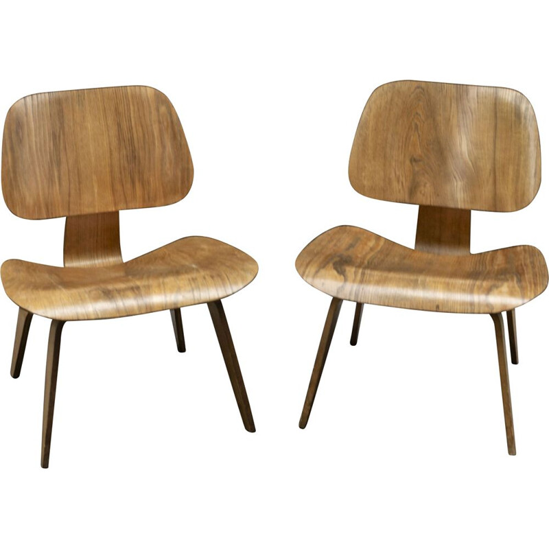 Pair of LCW Chairs by Charles & Ray Eames - Herman Miller 1950