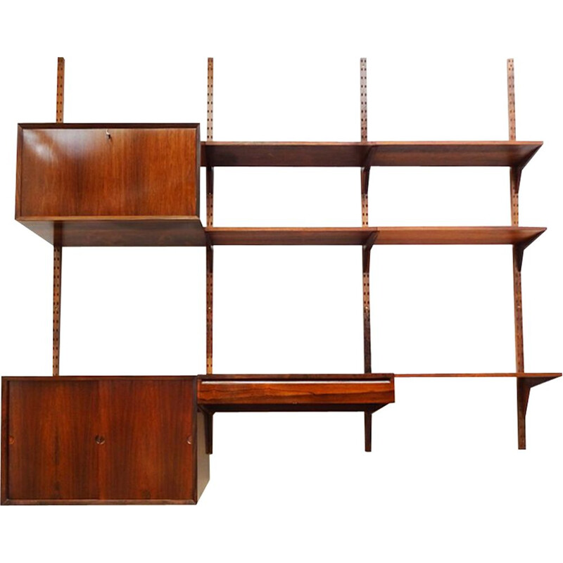 Mid century floating Royal System wall unit and shelving set Poul Cadovius Danish