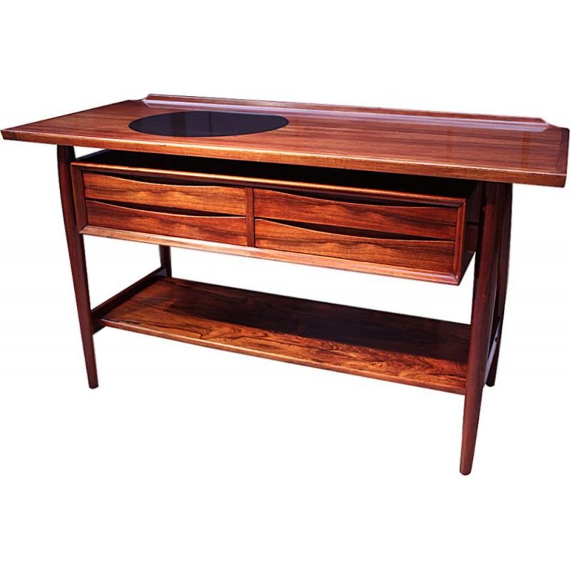 Mid century rosewood console table by Arne Vodder for Sibast Danish