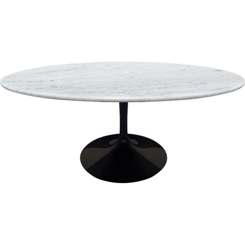 Vintage Knoll Eero Sarrinen white marble coffee table