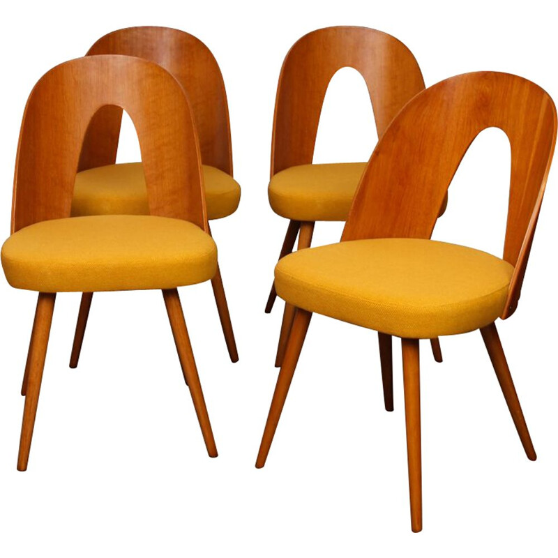 Set of 4 vintage chairs by Antonin Suman, 1960