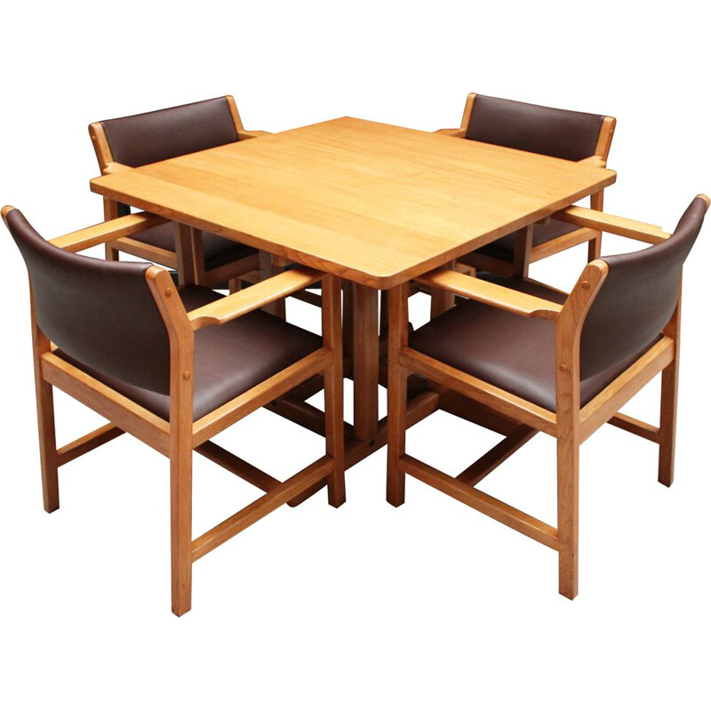 Mid Century oak 4 seater dining set by Børge Mogensen for Fredericia Stolefabrik Danish 1964