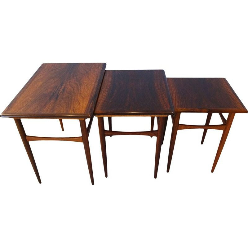 Mid century nesting coffee table set Kai Kristiansen 1969