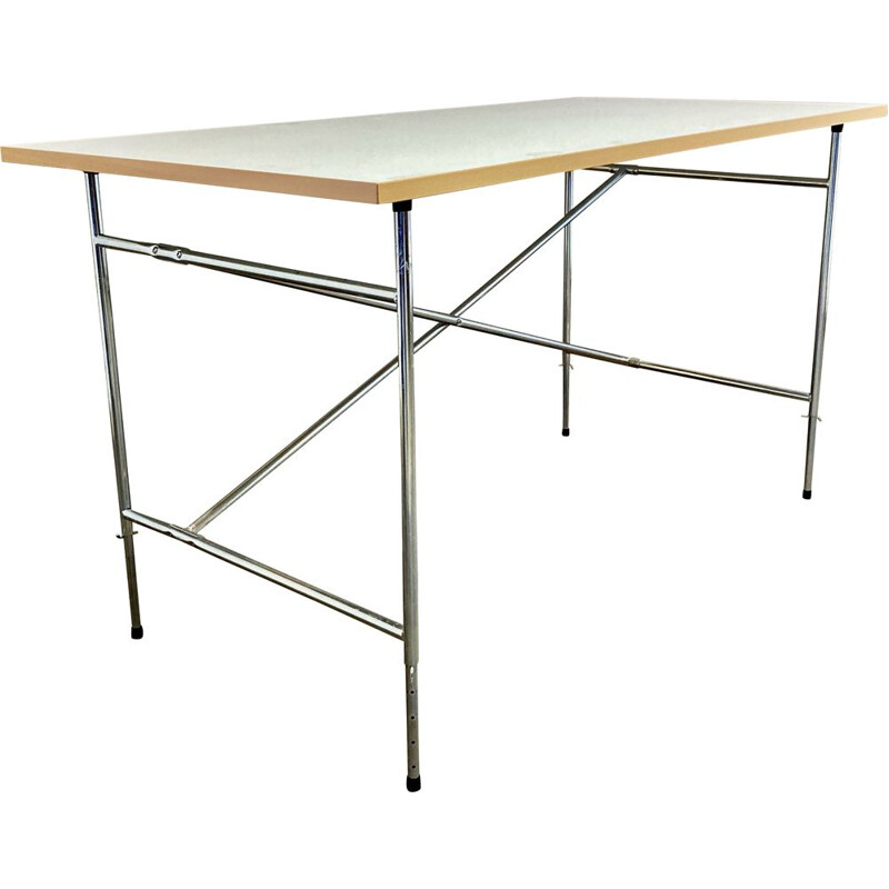 Vintage modular desk Metal and wood by Egon Eiermann