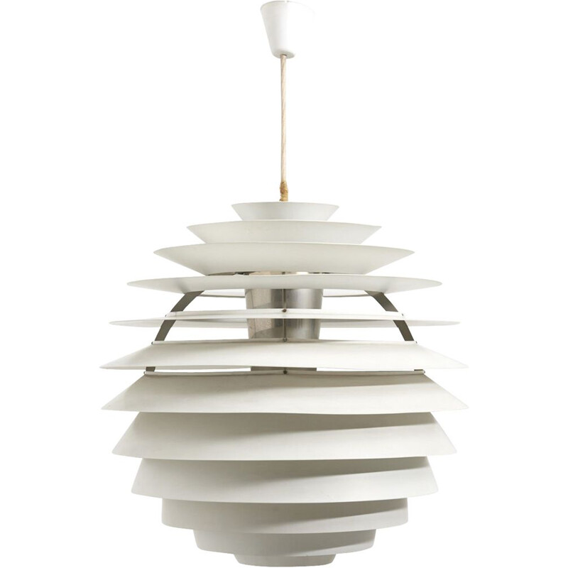 Vintage PH Louvre Pendant Lamp by Poul Henningsen for Louis Poulsen, Denmark 1957