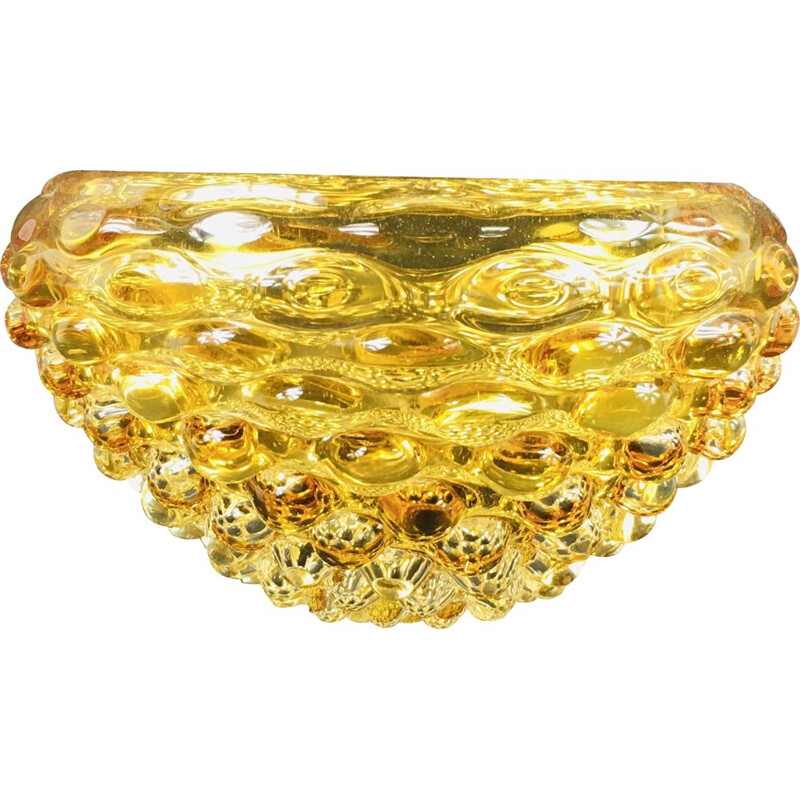 Vintage Murano Glass Lenti Bowl by Ercole Barovier for Barovier and Toso, 1940s